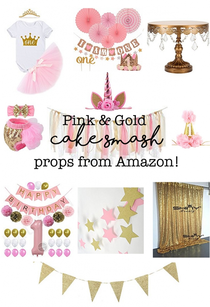 Pink and gold cakesmash props, pink and gold cakesmash, pink and gold cakesmash ideas, pink and gold first birthday pictures, first birthday pictures ideas, cakesmash ideas, smash cake ideas, cake smash ideas, cheap props for cake smash, cheap props for photoshoot, pink and gold photography, pink and gold decorations, pink and gold birthday decorations