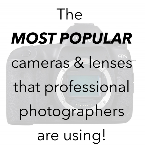 The most popular cameras and lenses that photographers are using.