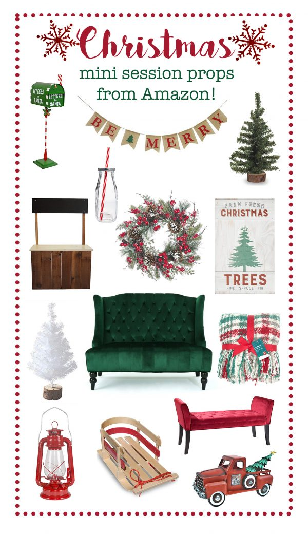 Christmas Mini Session Props from Amazon!