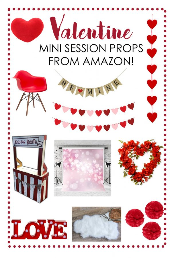 Valentine Mini Session Props from Amazon!